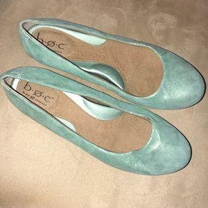 Boc Leather Seafoam Green Ballet Flat